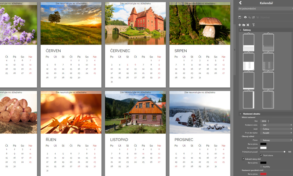 Zoner X kalendář
